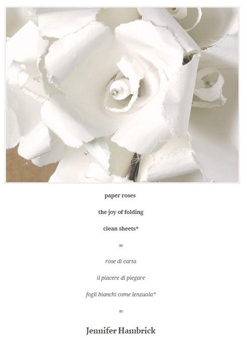Hambrick Paper roses haiku - 1